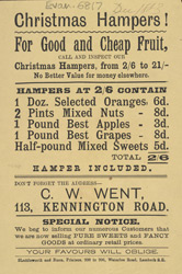Advert For C. W. Went, Grocers